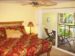 Master with King Bed & Lanai Overlooks Waikoloa Colony Villas Pool & Waterfall.
