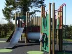 Childrens play area with safety surfacing.