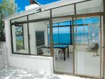 BBQ / Sun Room - great area for entertainment, cozy in the winter with beautiful views
