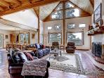 Spacious living area with high ceilings and extra windows for maximum natural light