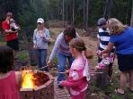 Fire pit, great for families and friends!