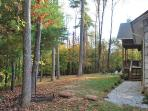 Large back yard.  Hiking trail behind house