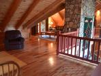 Loft has 2 high balconies,  sitting room and large full bathroom