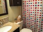 Downstairs bath.   Very clean, updated bathrooms.