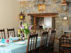 Aberaeron holiday home - dining area