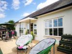 Holiday cottage bungalow Welshpool - terrace