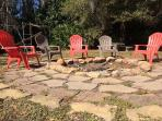 Large Backyard fire pit, and we have plenty of firewood for you