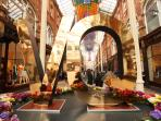 Victoria Quarter Arcade is just two minutes away