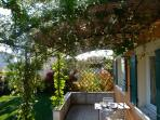 Terrasse au printemps
