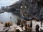 Period Outlander scene. Is it Dysart Harbour or  Le Havre France??