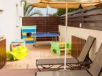 GATED OUTDOOR PLAY AREA FOR LITTLE ONEs