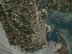 aerophotograph of Preveza:the island that became ashore