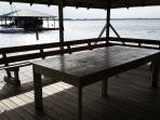 Eating area on dock