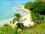Secluded private beach