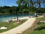 Nearby lake/swimming