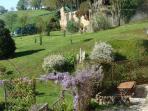 The gite terrace and garden