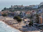 Aerial view of VIllajoyosa Beach