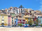 View of the Old Town from the beach. the Apartment is a 200 mts away.