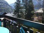 Private balcony, with sunny mountain views