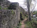 A part of the Roman wall. There is still a lot of it to be seen.