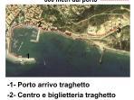 Mappa con le distanze: porto-centro paese-appartamento