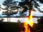 Bonfire down by the lake