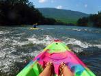 1/2 mile to kayak, canoe, tube & raft rentals