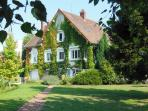 Thibault Villa France. Façade, summer time.