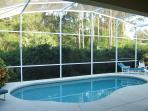 Private Pool backing to wooded area