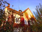 Thibault Villa France. Sunset in November