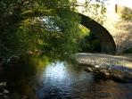 The River Elwy flows only a 15 minute walk away from the cottage