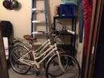 In the storage locker are bikes, tennis rackets, beach gear and more all for your use