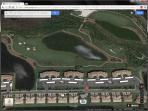 Satellite view - our unit is in the second condo right of the water
