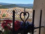 Stunning views across the Luberon mountain range and Mont Ventoux.