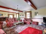 Large comfortable lounge, open fire and full central heating