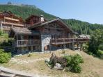 The apartment covers the ground floor of a traditional stone built chalet.