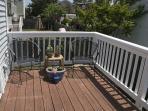 Back  porch, enjoy the evening sun