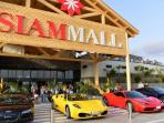shopping center siam mall in 15 min by walk