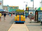 Enjoy the Boardwalk just 1.5 blocks from our place
