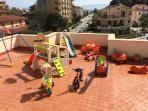 Games for children in the terrace