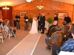 The dining room also makes a great small wedding chapel (wedding fee applies) or reception area
