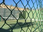 2 paddle tennis courts.