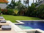 Garden view across to Kubu Indah resort