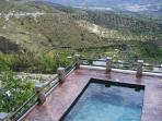 View over the Large, Shared Pool (8 x 4) & the Surrounding Countryside.