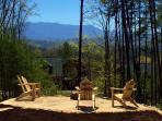 Enjoy a gorgeous Smoky Mountain sunset while sitting around our outdoor fire pit area.