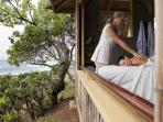 The spa at Turtle Bay Resort offers beach side massages