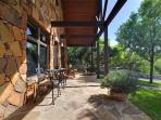 The Cottage patio stone work perfectly captures the essence of the Texas Hill country