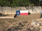 Texas-flag storage area.