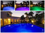 LED POOL LIGHTS AT NIGHT