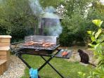 A summer evening - perfect for a barbecue.